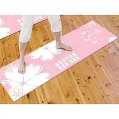 Boston Red Sox Yoga Mat. Wicked awesome item for the Boston Yoga Girl!
