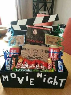 Make it a legit at home movie night...not #netflixandchill