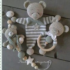 Crochet Bear Pattern-Crochet Rag Doll Bear Pattern-Amigurumi Bear-DIY Crochet To. - SßYß - Crochet Bear Pattern-Crochet Rag Doll Bear Pattern-Amigurumi Bear-DIY Crochet To. So wird man Stielwarzen los. Diy Crochet Toys, Crochet Teddy, Crochet Dolls, Crochet Bear Patterns, Crochet Animals, Amigurumi Doll, Baby Knitting, Stuffed Toys Patterns, Etsy