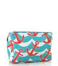 Anchor Splash Print Cosmetic Bag $11.95 http://www.sparklyexpressions.com/#1019