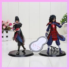 Anime Naruto Uchiha Madara Sasuke Pvc Action Figure Model Toy Cartoon Naruto Model Display Juguetes Dibujos animados Brinquedos