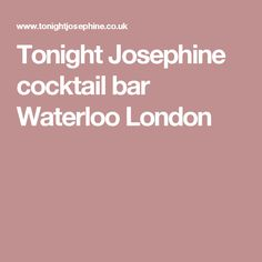 Cocktail & Wine Bars in Waterloo & Shoreditch Bars In Shoreditch, Waterloo London, London Calling, Happy Hour, Cocktails, Craft Cocktails, Cocktail, Drinks, Smoothies