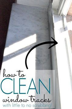 How to Clean Window Tracks with little to NO SCRUBBING! #cleaningtips #cleaningtricks #diy