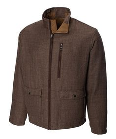 2ec71ae1331 Cutter & Buck Chestnut WeatherTec Bearsden Reversible Jacket - Big & Tall
