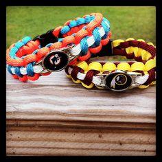 Custom Made NFL Team Paracord Bracelet by Ayprull on Etsy, $15.00