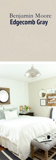 This is our favorite light tan color. Edgecomb Gray by Benjamin Moore ...