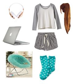 """""""lazy day at home"""" by marilyng341 ❤ liked on Polyvore featuring H&M, RVCA, PBteen, Speck and Frends"""