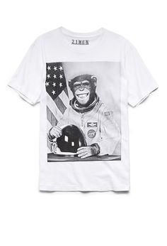 Wild Astronaut Tee | 21 MEN #GraphicTee #21Men