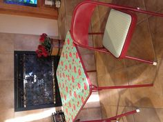 Card table and chairs redo