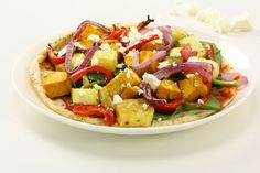 Roast Vegetable, Feta and Cashew Pizza Fruit Salad, Cobb Salad, Clean Dinners, Healthy Dinners, Best Weight Loss Foods, Roasted Vegetables, Kung Pao Chicken, Feta, Diet Recipes
