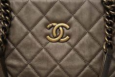 fadd89fdaf Chanel Bronze Quilted Calfskin Shopping Bag