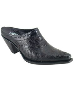 I want these boots, $217.95.  They are Lucchese, women's black tooled 5 toe shoe.  http://www.countryoutfitter.com/products/29871-womens-black-tooled-shoe