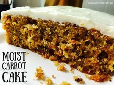 This moist Carrot Cake is so super-simple and easy to make. We love this version as it stays moist and fresh for a couple of days and freezes really well. It's perfect for an after school snack and a weekend treat.