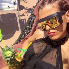 2017 Women Fashion Oversized Sunglasses Vintage Men Brand designer Goggle Big Frame High quality Sun Glasses oculos de sol UV400