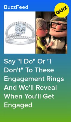 Swipe Left Or Right On These Engagement Rings And We'll Reveal Your Engagement Date Buzzfeed Personality Quiz, Personality Quizzes, Fun Quizzes To Take, Quizzes About Boys, Disney Quiz, Disney Test, Engagement Ring Quiz, Buzzfeed Quizzes Love, Musical Quiz