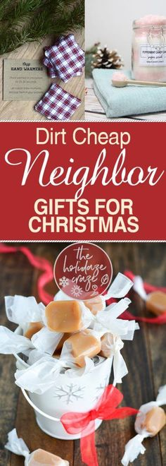Dirt Cheap Neighbor Gifts for Christmas| Gifts for Neighbors, Christmas Gifts for Neighbors, DIY Gifts, DIY Gifts for Neighbors, Inexpensive Gifts for Neighbors, Christmas Gifts, DIY Christmas Gifts. #ChristmasGifts #DIYChristmasGifts #ChristmasGiftsforNeighbors