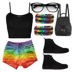 """""""Gay Pride Outfit"""" by immewhymustyoucare ❤ liked on Polyvore featuring rag & bone, WearAll and Ann Demeulemeester"""