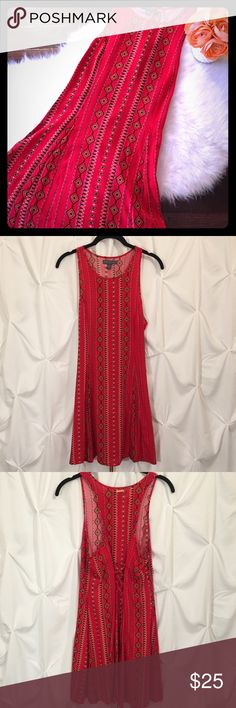 NWT Kendall and Kylie dress Stunning dress with a beautiful pattern and lace up detail in the back. Brand new. Kendall & Kylie Dresses