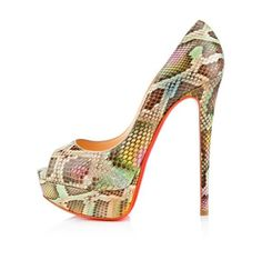 Christian Louboutin  Lady 140mm Peep Toe Pumps Multicolor11 on the lookout for limited offer,no taxes and free shipping.#shoes #womenstyle #heels #womenheels #womenshoes  #fashionheels #redheels #louboutin #louboutinheels #christanlouboutinshoes #louboutinworld