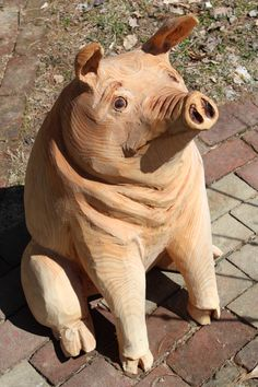 Chainsaw Carvings by Todd Gladfelter Driftwood Sculpture, Outdoor Sculpture, Abstract Sculpture, Sculpture Art, Metal Sculptures, Bronze Sculpture, Tree Carving, Wood Carving, Popeye And Olive