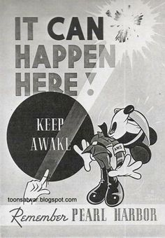 Toons At War: Remember Pearl Harbor Ww2 Propaganda Posters, Political Posters, Nose Art, Vintage Advertisements, Vintage Ads, Remember Pearl Harbor, Pin Up, Disney Posters, Vintage Disney