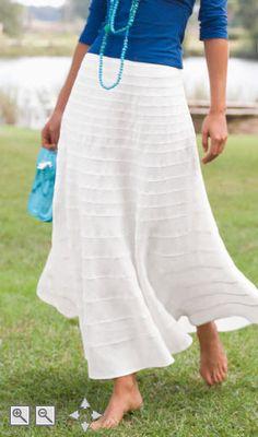 White Linen Skirt