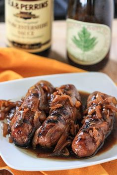 Beer Brats with Caramelized Onions