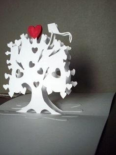 Tree Pop Up Card Art Paper Sculpture by PetrinaCaseStudio