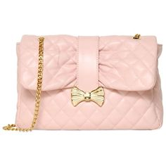 RED VALENTINO Quilted Faux Leather Shoulder Bag - Nude ($522) ❤ liked on Polyvore featuring bags, handbags, shoulder bags, clutches, purses, сумки, nude, pink purse, vegan purses and quilted purse