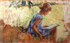 Le Lettura by Giorgio Kienerk, Italy, 1869-1948