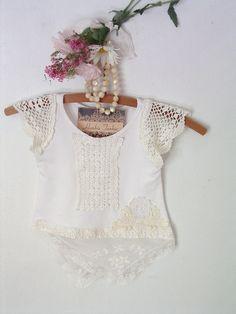 boho baby girl tunic top dress baby shower gift by hankietankie, $39.00