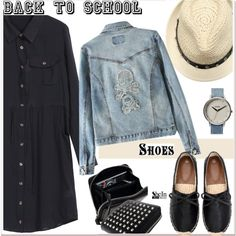 How To Wear Back to School New Shoes 2 Outfit Idea 2017 - Fashion Trends Ready To Wear For Plus Size, Curvy Women Over 20, 30, 40, 50
