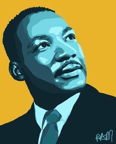 Martin luther king jr art #martin #luther #king #quotes #art Black History People, Black History Month, Martin Luther King Jnr, King Drawing, King Painting, Jr Art, Pop Art Portraits, Afro, King Art