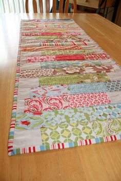 Coins Table Runner from Charm Square...cute idea!