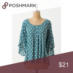 Anthropologie Braxton Top Maeve's rayon top boasts button-trail sleeves, pleated front and a shirttail inspired by the menswear classic. Anthropologie Tops Blouses