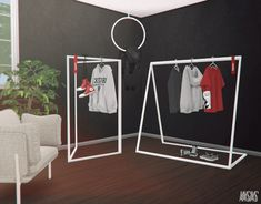 Clothes Rack Set for The Sims 4