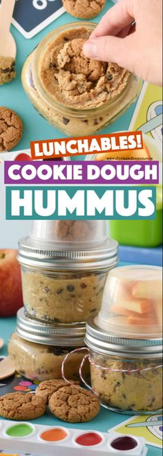 Made with garbanzo beans, these Cookie Dough Hummus Lunchables are a healthier treat option to throw into your kid's lunchbox! Made with garbanzo beans, these Cookie Dough Hummus Lunchables are a healthier treat option to throw into your kid's lunchbox! Hummus Dip, Avocado Hummus, Pecan Desserts, Diet Desserts, Healthy Desserts, Graham Crackers, Boite A Lunch, Edible Cookie Dough, Healthy Treats