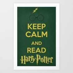 Keep Calm - Harry Potter 01 Art Print by Misery - $16.00
