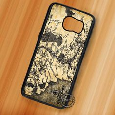 Lord of The Rings Map Vintage - Samsung Galaxy S7 S6 S5 Note 7 Cases & Covers