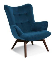#homedecor #interiordesign #decoration #design Bleu Marine, Contemporary Furniture, Chair Design, Armchair, Interior Design, Home Decor, June, Decoration, Velvet Armchair