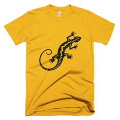 Southwestern Petroglyph Gecko Short Sleeve Men's T-Shirt