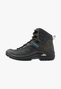Lowa TAURUS II GTX MID - Hikingschuh - anthrazit - Zalando.de Camping Outfits For Women, Taurus, Hiking Boots, Clothes For Women, Shoes, Fashion, Light Blue, Leather, Outerwear Women