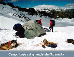 Campo base sui ghiacciai dell'Adamello