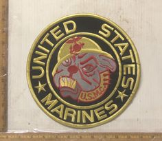 United States Marines Bull Dog Embroidered Back Patch