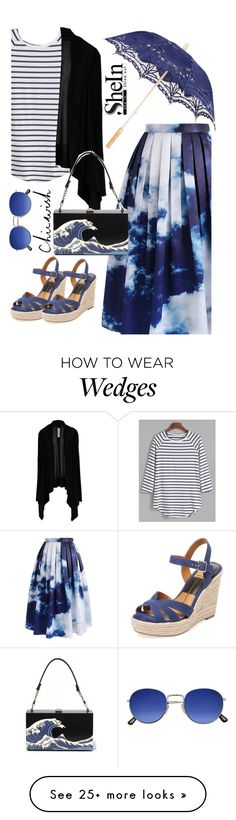 """""""Livin' It Blue"""" by szeying00 on Polyvore featuring Chicwish, Rick Owens, Dolce Vita, chicwish, rockthevote and shein"""