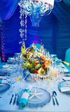 Inspired by The Little Mermaid, the trendiest ocean party you ever did see has been brought to the shore to celebrate a love stronger than the tide