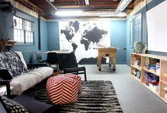 Budget basement game and movie room #basementrenovations