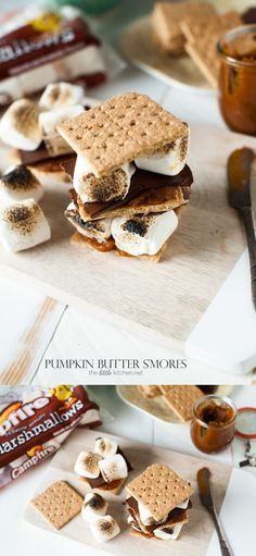 so easy and amazing! Pumpkin Butter S'mores from thelittlekitchen.net @campfiremallows