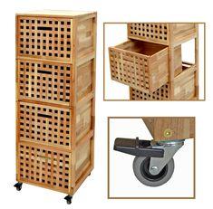 Kommode Wäschebox Flur Kinderzimmer Bad Schrank Regal Wäschekorb Walnuss Holz | eBay