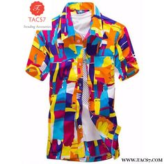 c1f14c70c533 2016 Tropical Hawaiian Shirts Full Floral Men s Short Sleeve Casual Beach  Party Tops Fast Drying Asian